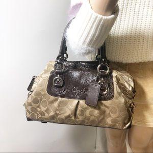 Coach signature satchel purse